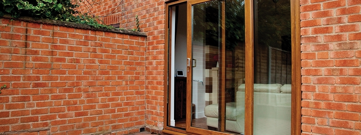 Golden Oak Patio Door