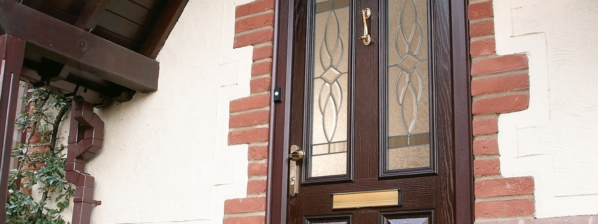 uPVC Door Mahogany