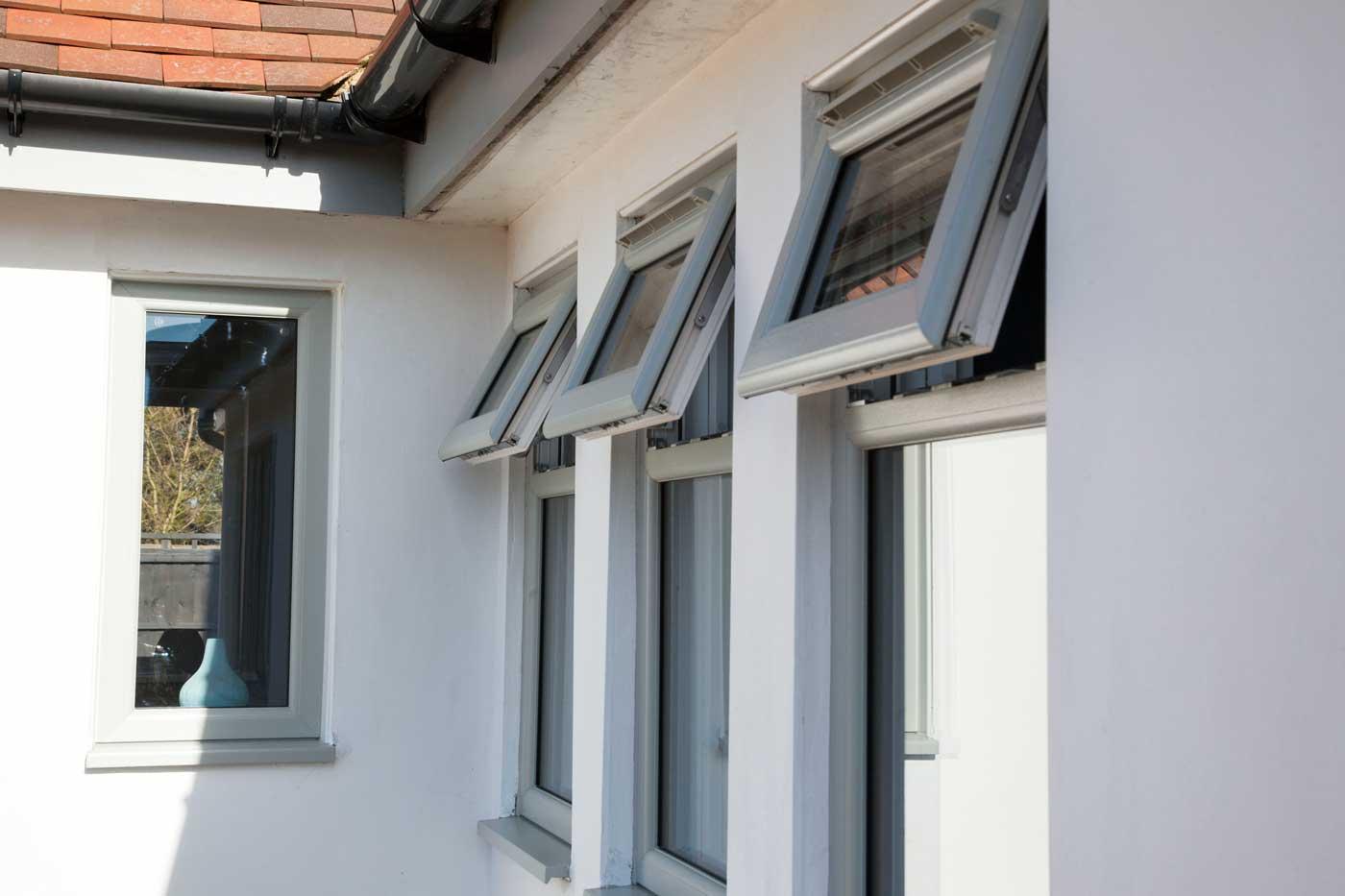 Grey uPVC Windows Pontraddulais